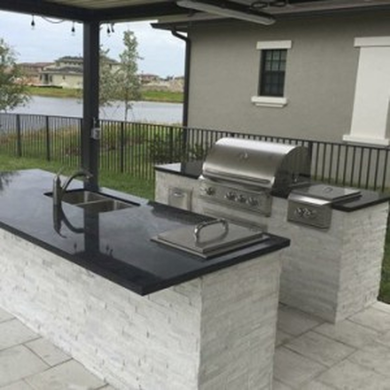 Outdoor Kitchens & TV Wall