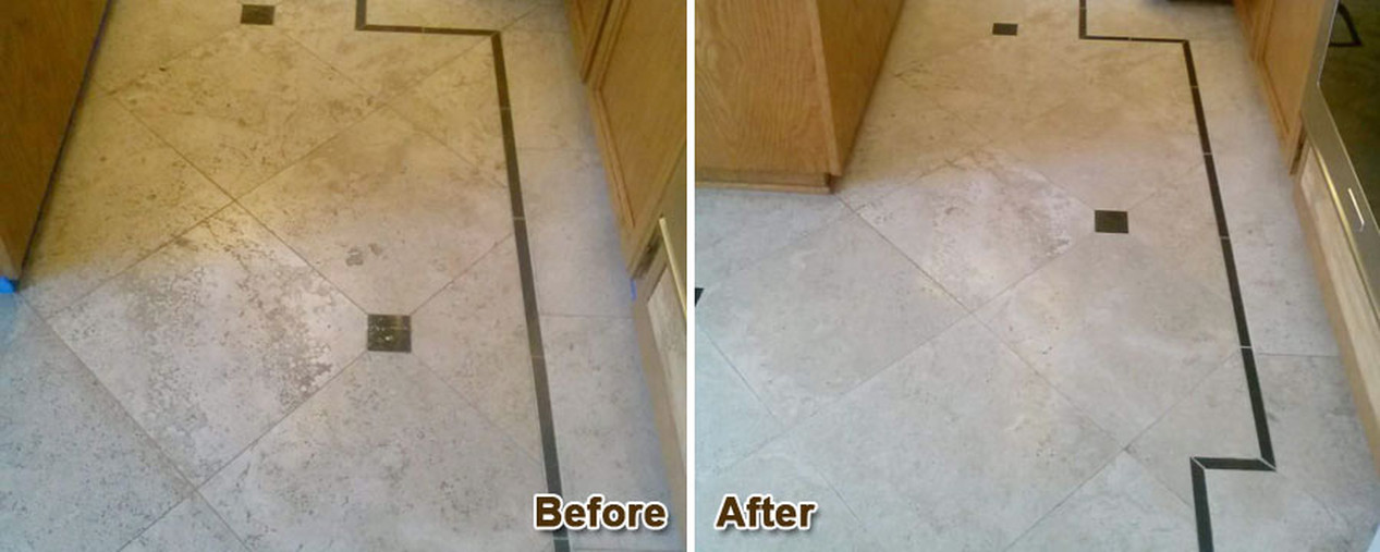 Marble Cleaning & Polishing-After & Before