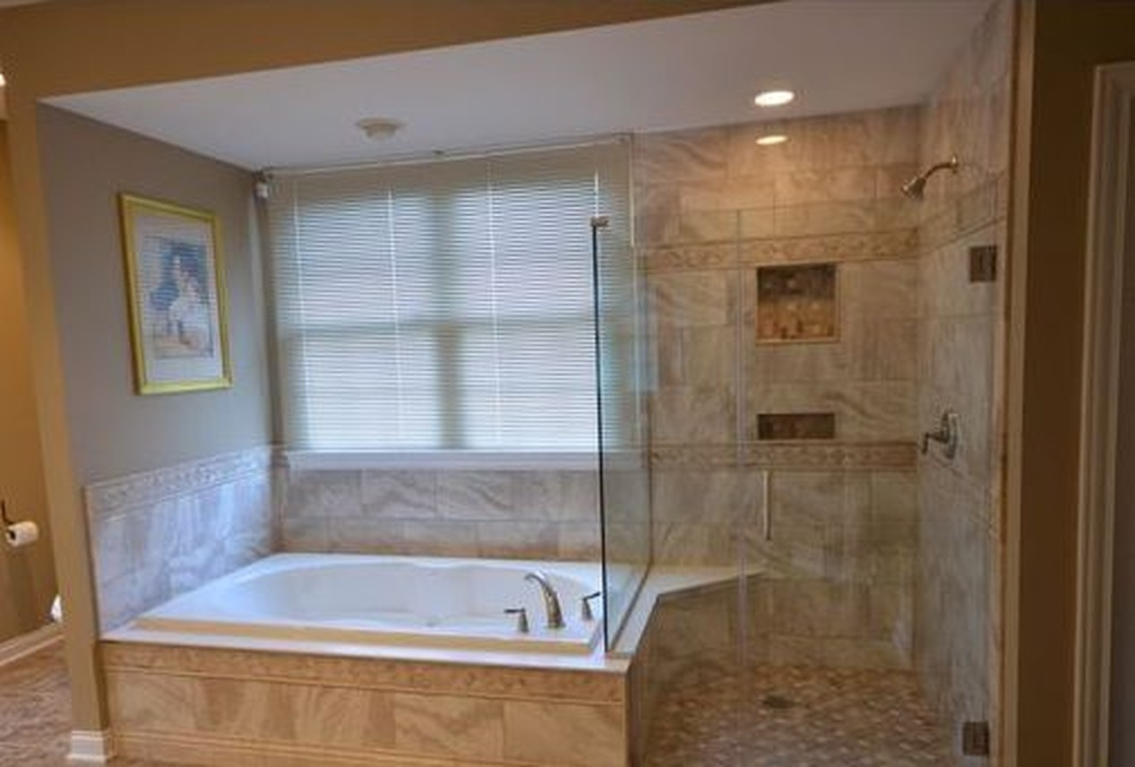Before and after full master bathroom remodeling