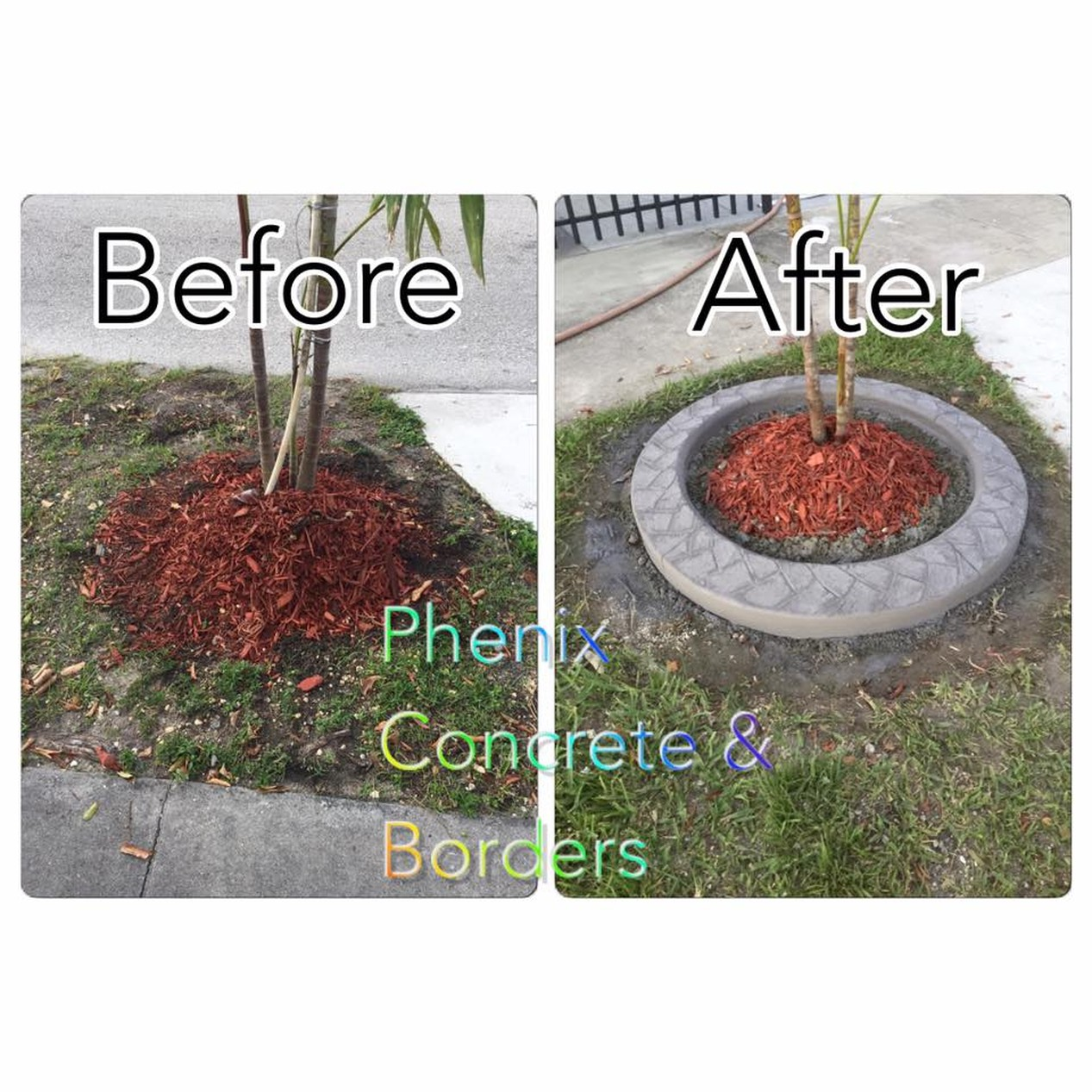 Landscape Borders-After & Before