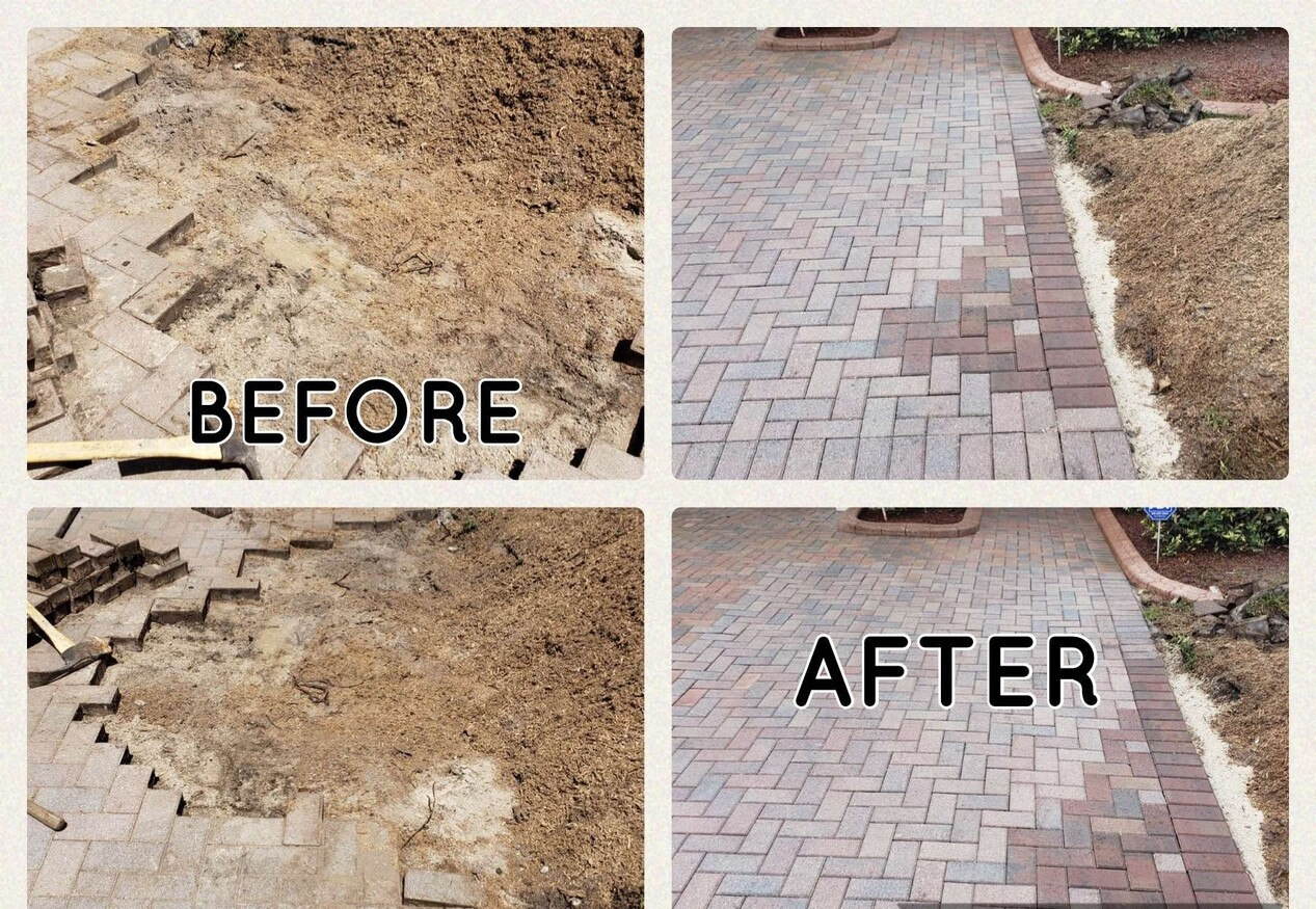 PAVER REPAIRS WASH AND SEAL OF DRIVEWAY