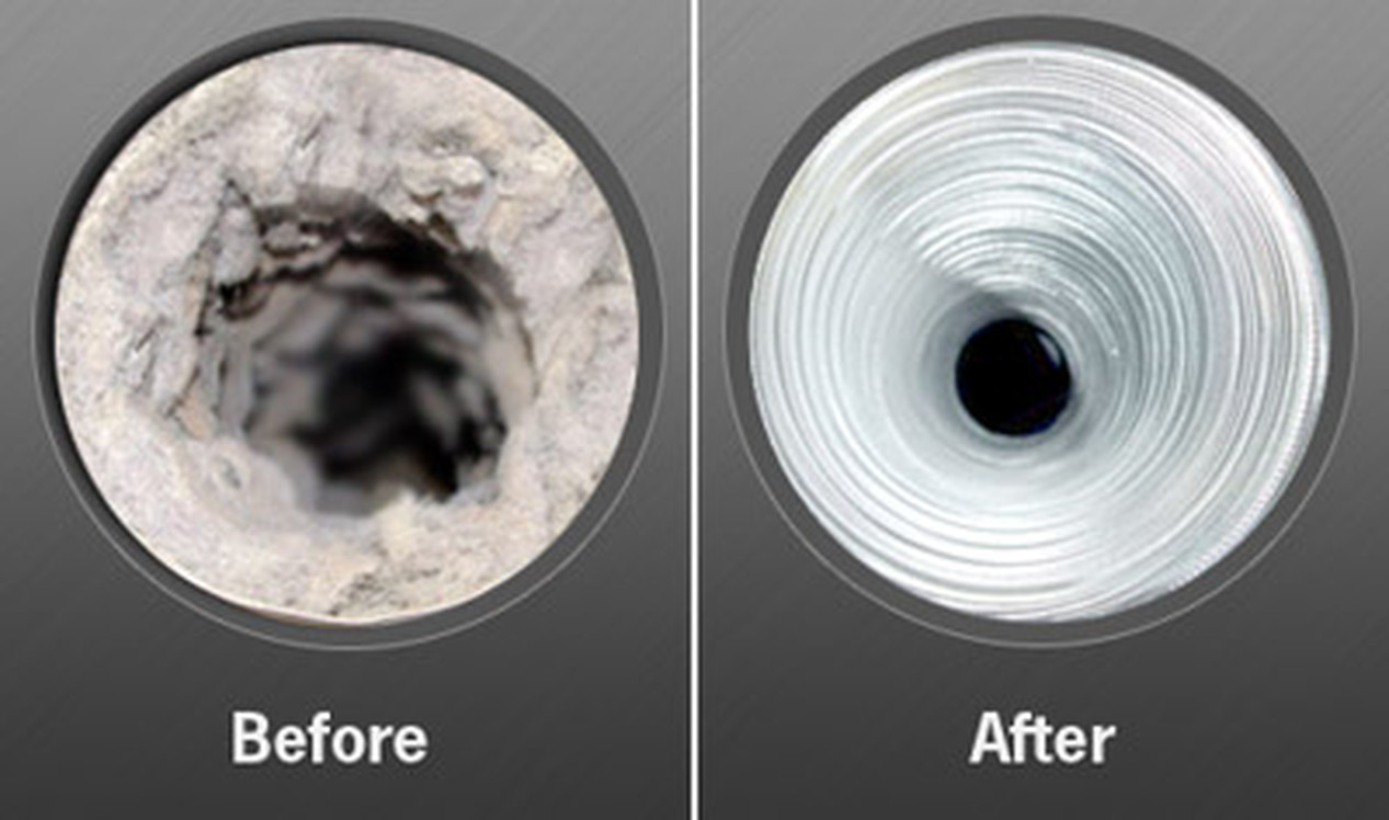 DRYER VENT CLEANING- AFTER&BEFORE