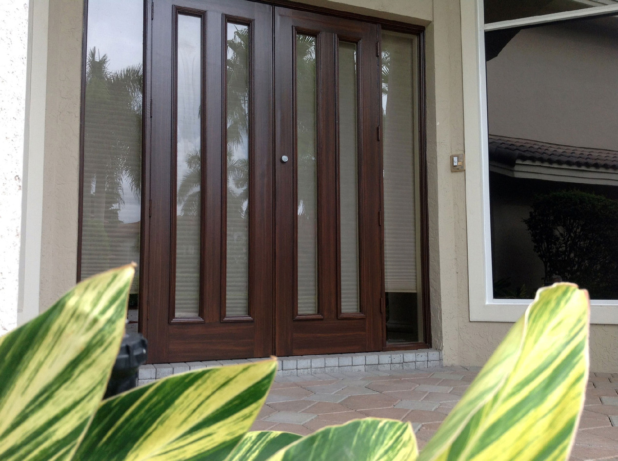 Faux Wood Finish- Front Doors