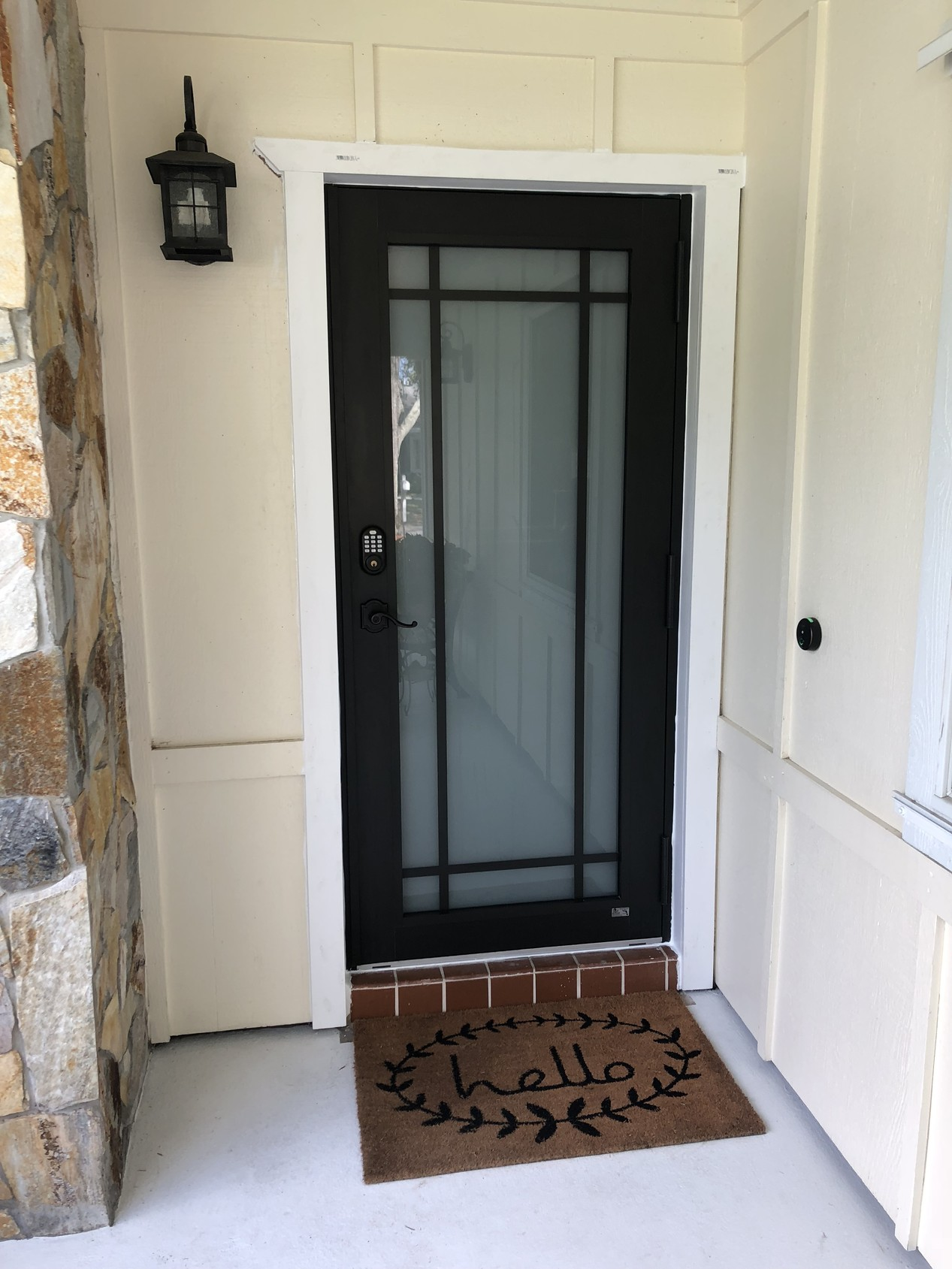Modern Aluminum Impact Single Entry Door