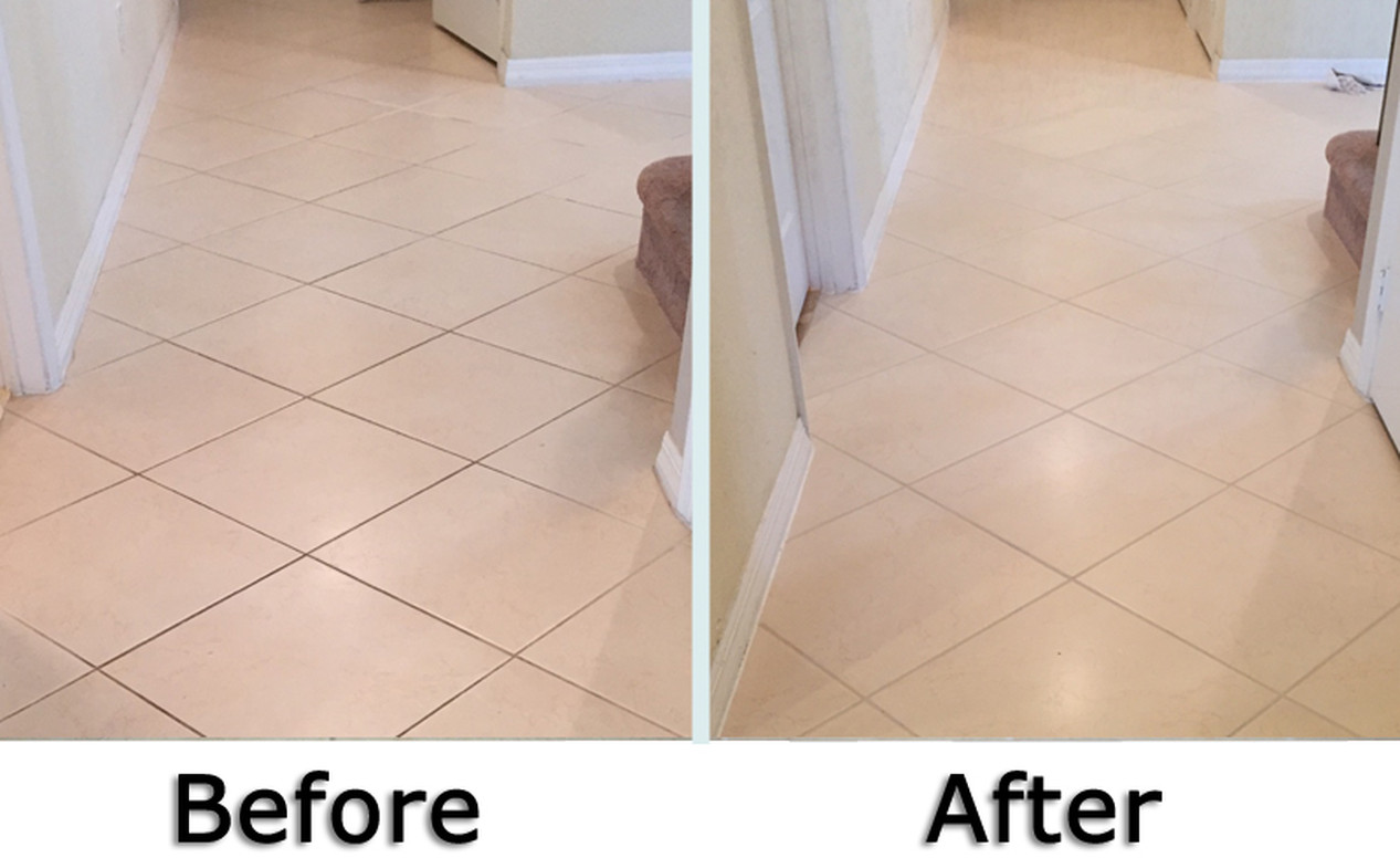 Before & After-Tile & Grout Restoration