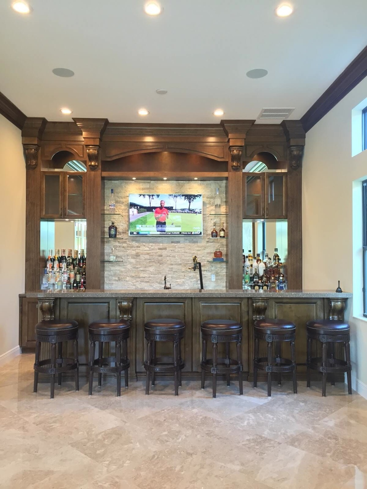 Home Bar Area