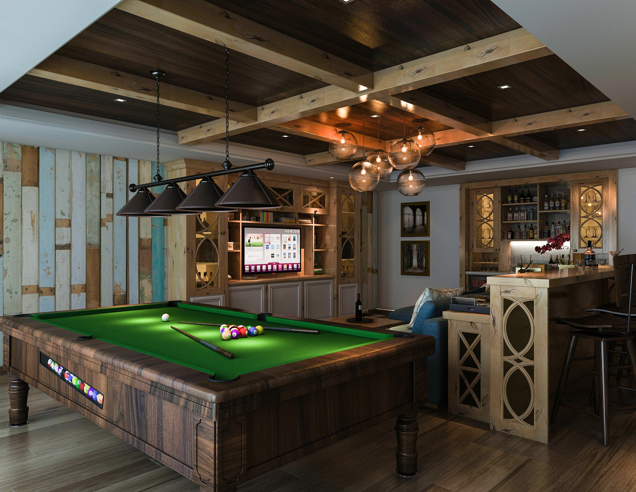 Bar & Wall Unit