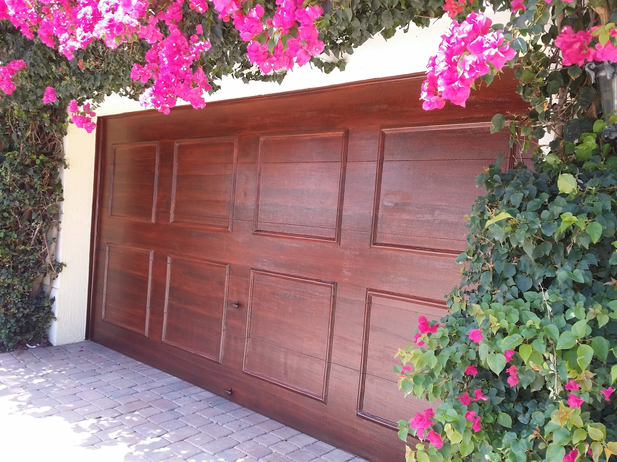 Faux Wood Finish- Garage Doors | Davco Painting Inc