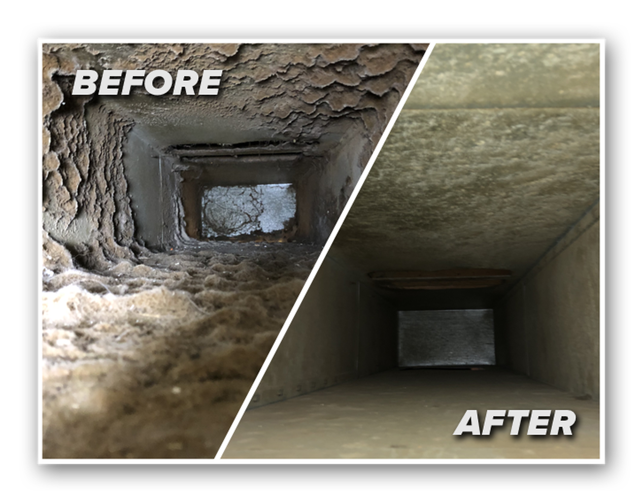 AIR DUCT CLEANING-AFTER&BEFORE