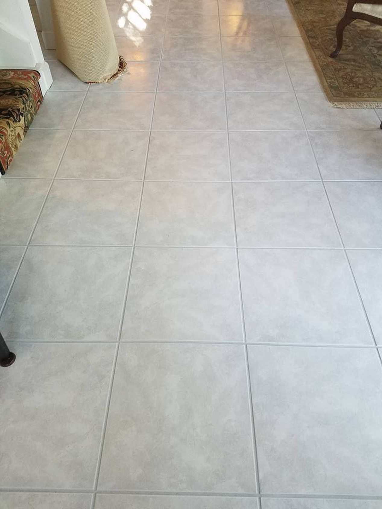 After & Before- Grout Cleaing