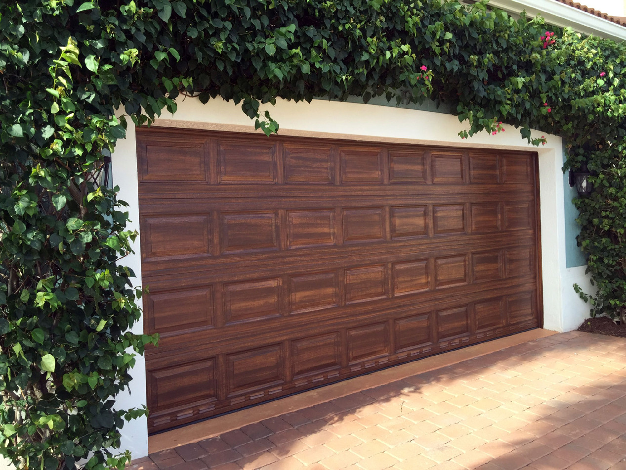 Faux Wood Finish- Garage Doors