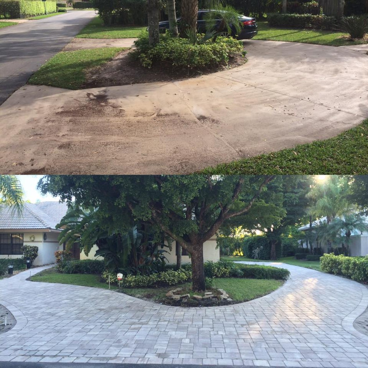 Before&after-Paver Cleaning & Sealing | Kc Tile Restoration
