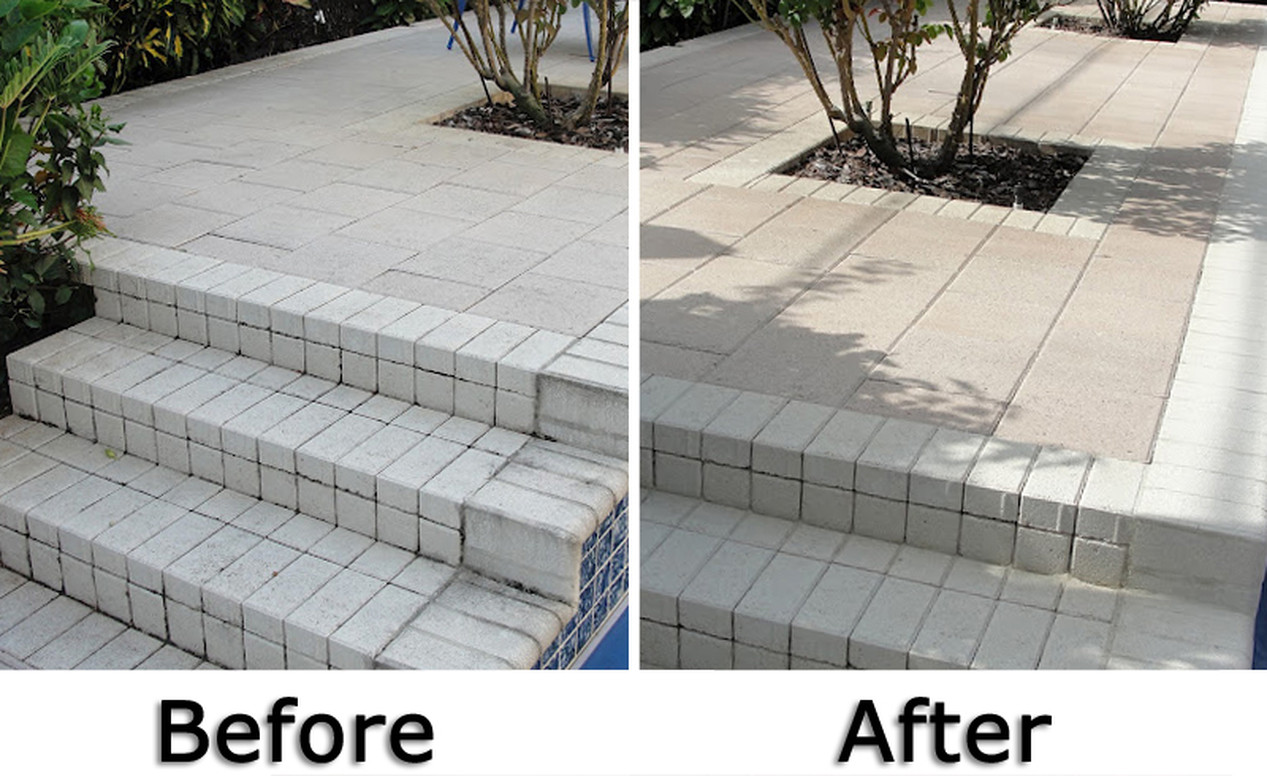 Before&After-Paver Cleaning & Sealing
