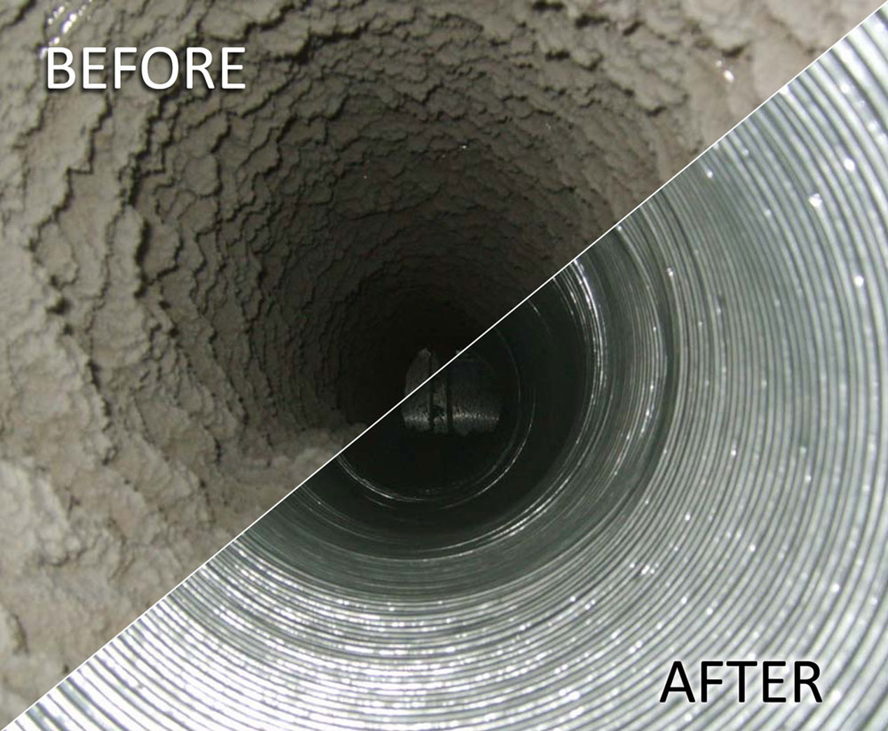 AIR  DUCT CLEANING-AFTER & BEFORE